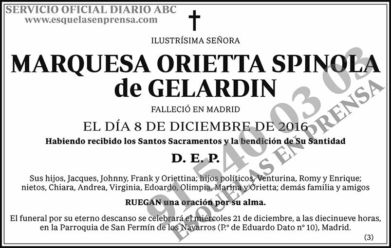 Marquesa Orietta Spinola de Gelardin